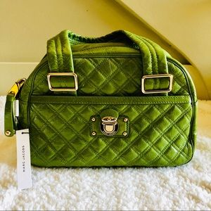 Marc Jacobs Patent Leather Quilted Bowler Bag NWT